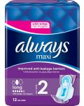Always Maxi Long Pads Wings 12 st