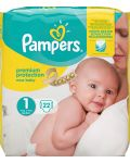 Pampers Premium protection S1 (2-5kg) 22 st