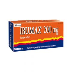 Ibumax 200 mg filmdragerade tabletter 30 st