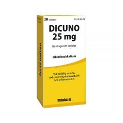 Dicuno 25 mg filmdragerade tabletter 20 st