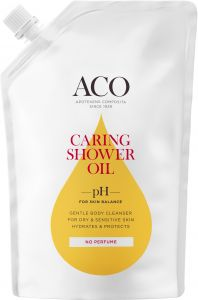 ACO Caring Shower Oil Refill Oparfymerad 400 ml