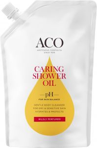 ACO Caring Shower Oil Refill Milt Parfymerad 400 ml