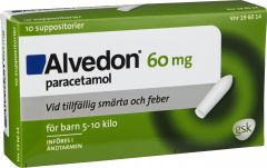 Alvedon Suppositorium (5-10 kg) 60 mg 10 st