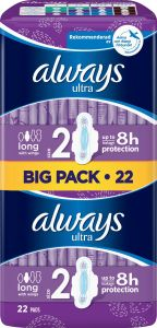 Always Ultra Long Pads Wings 22 st