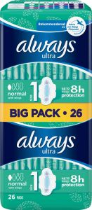 Always Ultra Normal Pads Wings 26 st