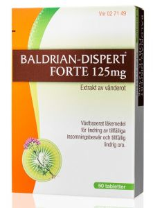 Baldrian Dispert Forte Dragerad Tablett 50 st