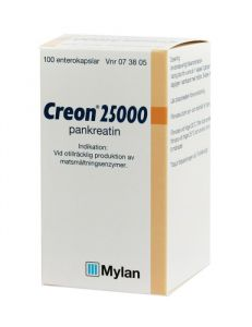Creon 25000, enterokapsel, 100 st