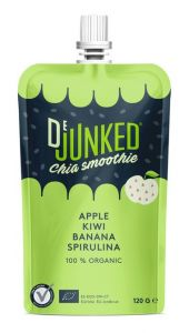DeJunked Chia Smoothie Apple Kiwi Spirulina 150 g