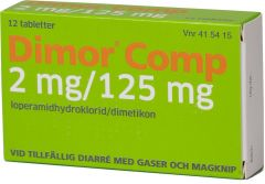 Dimor Comp tabletter 2mg/125mg, 12 st