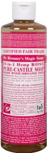 Dr. Bronner Rose Liquid Soap 473 ml