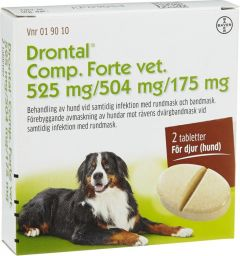 Drontal Comp Forte Vet. tablett 525mg 2st