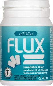 Flux Tuggummi Coolmint 45st - Burk