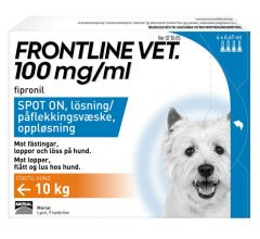 Frontline Vet 100 mg/ml spot-on, 4 x 0,67 ml