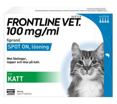 Frontline Vet 100 mg/ml Spot-on Lösning 4 x 0,5 ml