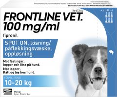 Frontline Vet 100mg/ml Spot-On 6 x 1,34 ml