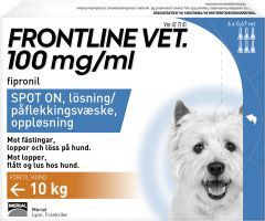 Frontline Vet 100 mg/ml Spot-on För Hund 6 x 0,67 ml