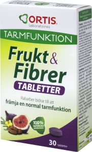 Frukt & Fibrer Normal tarmfunktion 30 st