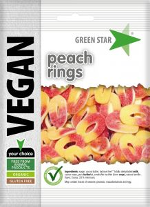 Green Star Peach rings 80 g