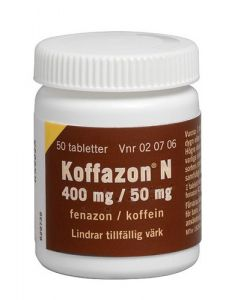 Koffazon N tabletter 400mg/50mg , 50st