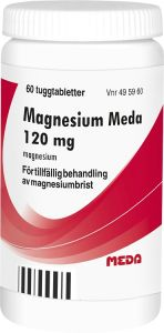 Magnesium Meda tablett 120 mg 60 st