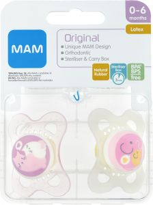 MAM Napp Original 0-6 m Latex 2 st