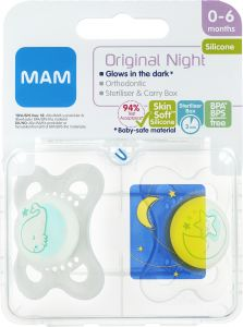 MAM Original Night 0-6 m Silikon 2 st