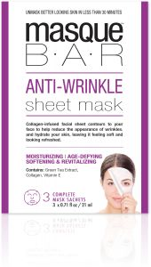 MasqueBar Anti wrinkle sheet mask 3 st