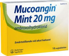 Mucoangin Mint sugtabletter 18 st