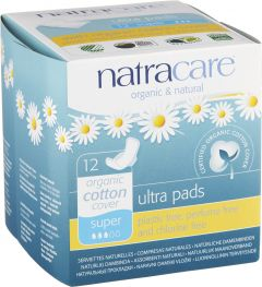 Natracare Binda ultra super med vingar 12 st