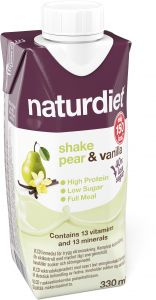 Naturdiet Shake pear/vanilla 330 ml