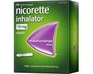 Nicorette Inhalator Inhalationsånga Vätska 10 mg 42 st