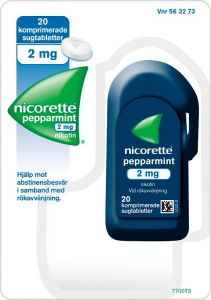 Nicorette Pepparmint 2 mg sugtabletter 20 st