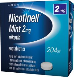 Nicotinell Sugtablett mint 2 mg 204 st