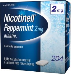 Nicotinell Tuggummi peppermint 2 mg 204 st