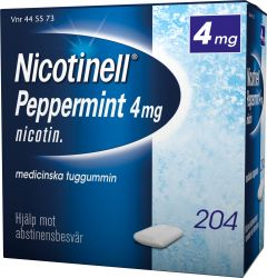 Nicotinell Tuggummi peppermint 4 mg 204 st