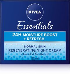 NIVEA Essentials24h moist boost+refresh night creme 50 ml