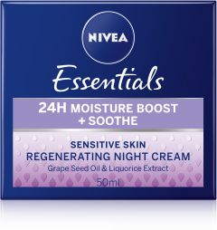 NIVEA Essentials24h moisture boost+soothe night 50 ml