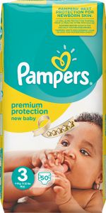 Pampers Premium protection S3 (5-9 kg) 50 st