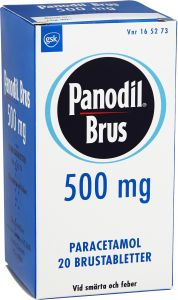 Panodil Brus 500 mg 20 st