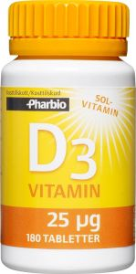 Pharbio D3-vitamin 180 st