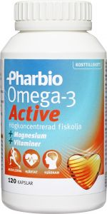 Pharbio Omega-3 active 120 st