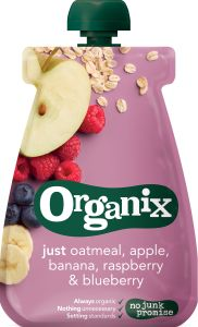 Organix Oatmeal Apple, Raspberry, Blueberry 100 g