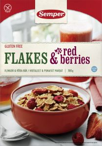 Semper Flakes Red Berries 300 g