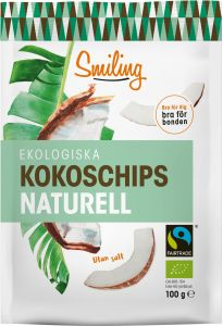 Smiling Kokoschips Naturell Fairtrade Eko 100 g
