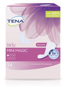 TENA Lady mini magic inkontinensskydd 34 st