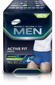 TENA Men active fit inkontinenskalsong large 10 st