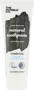 The Humble Co. Tandkräm fluor natural charcoal 75 ml