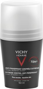 Vichy Homme Deo Roll-on 72h Anti-trace 50 ml