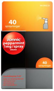Zonnic Pepparmint 1 mg munhålespray 3 ml