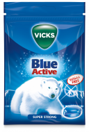 Vicks Blue Active Super Strong Sugar Free 72 g